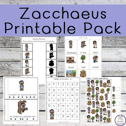 This Zacchaeus Printable Pack contains lots of fun and exciting activities and is a great way to teach young children, in preschool and kindergarten this amazing story.