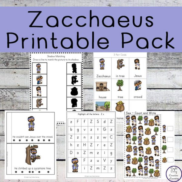 This Zacchaeus Printable Pack contains lots of fun and exciting activities and is a great way toteach young children, in preschool and kindergarten this amazing story.