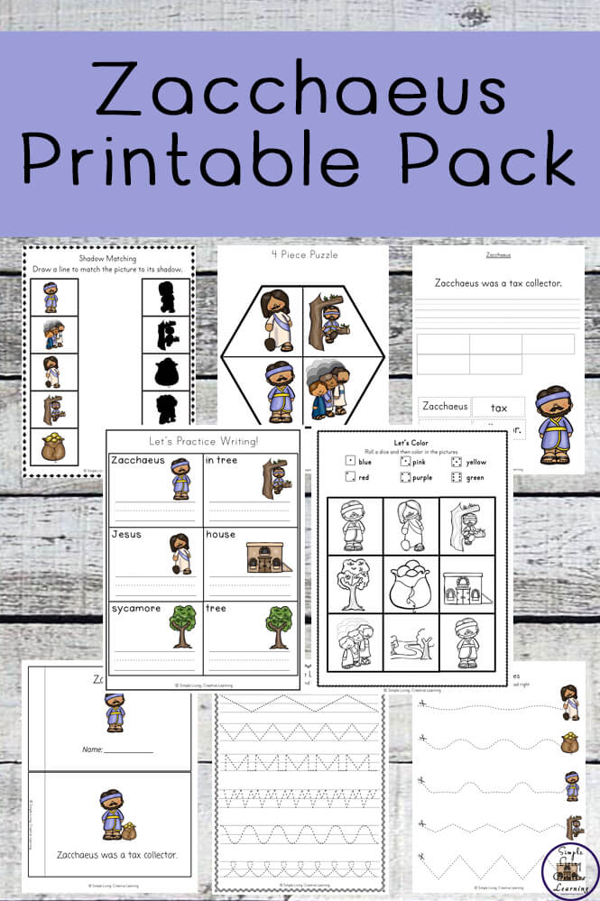 picture regarding Zacchaeus Printable identified as Zacchaeus Printable Pack - Basic Dwelling. Imaginative Understanding