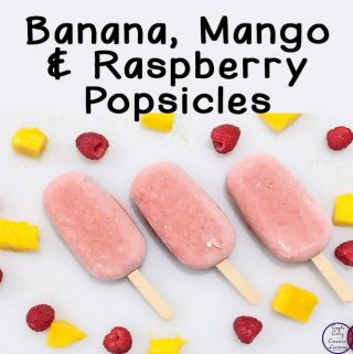 These Banana, Mango & Raspberry Popsicles is not only a great, cold snack but it is healthier than many store bought options.