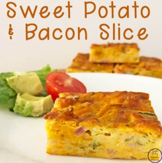 This budget-friendly, healthy Sweet Potato and Bacon Slice is a great freezer-friendly slice that the whole family will enjoy.