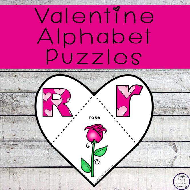 Valentine Alphabet puzzles