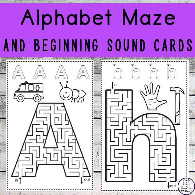 Alphabet Maze and Beginning Sound Cards