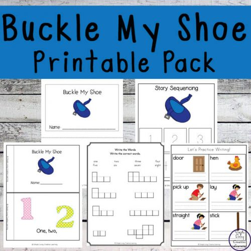 This Buckle My Shoe printable pack is a great nursery rhyme for young children to learn, especially great for practicing their counting.