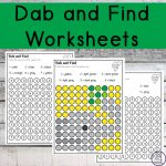 As children complete theseDab and Find Mystery Items worksheets, they will be working on their fine motor skills, number sense as well as working on learning their colours.
