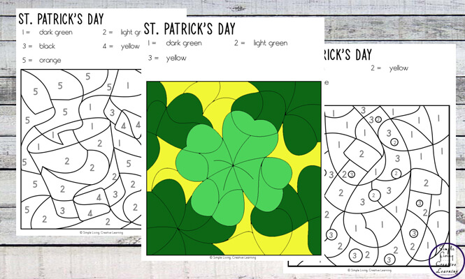 These St. Patrick's Day Colour by Code Worksheets are an engaging way to practice number and colour recognition while working on fine motor skills.