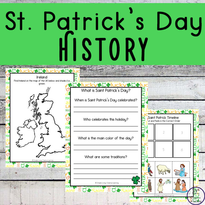 Learn about the reason for celebrating St. Patrick's Day with these fun St. Patrick's Day History worksheets.