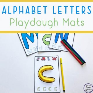 A fun way to learn the letters of the alphabet are with these Alphabet Letters Playdough Mats.