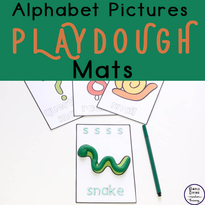 A fun way to learn the letters and sounds of the alphabet are with these Alphabet Pictures Playdough Mats.