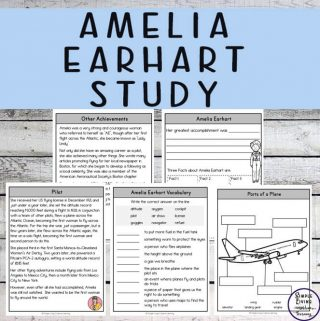 Amelia Earhart was a courageous and determined aviation pioneer who kids will love learning about through this Amelia Earhart Study.