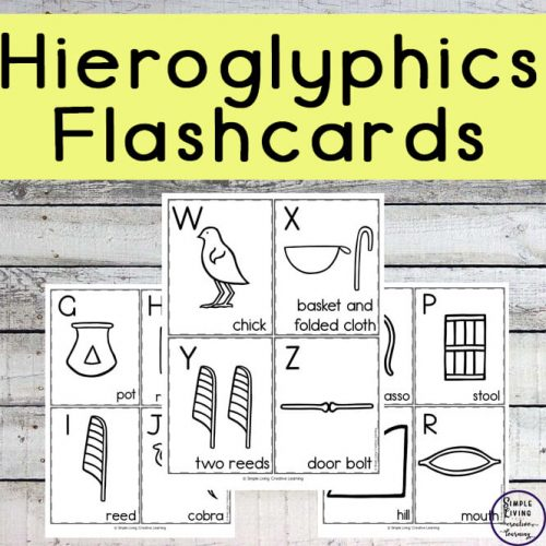 Enjoy learning about the writing of the Egyptians with these Egyptian Hieroglyphic Flashcards.