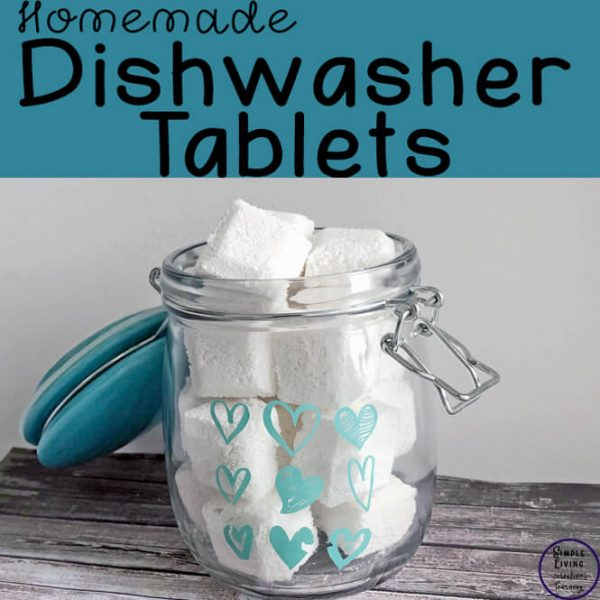 These all-natural, homemade dishwasher tablets are easy to make and work just as well as the shop ones, at a fraction of the cost.