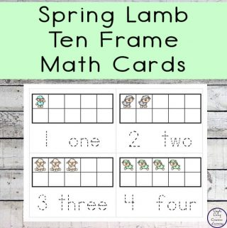 A fun and easy way to teach children counting and numbers is with these fun Spring Lamb Ten Frame Math Cards. They would be great for helping children better understand the concepts of numbers and counting from 1 - 10.