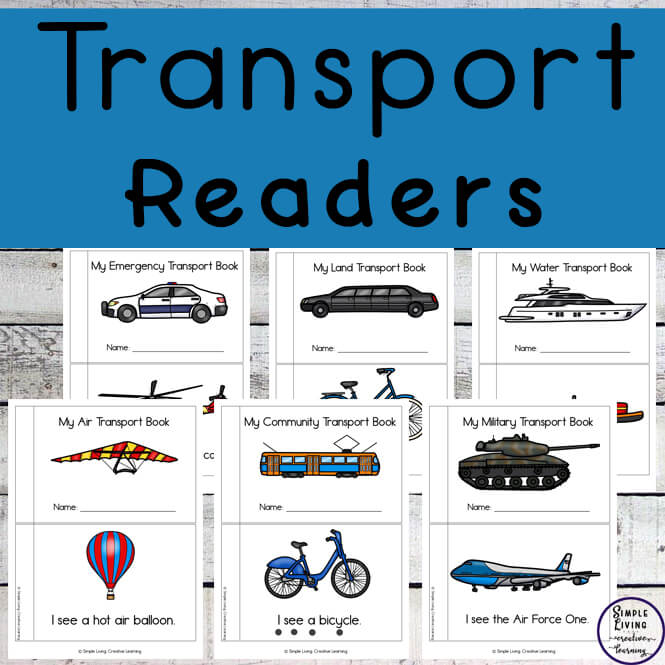 Transport easy read books