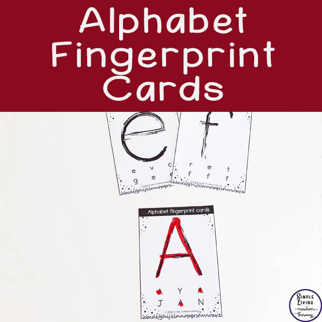 photo about Printable Fingerprint Cards identify Alphabet Fingerprint Playing cards