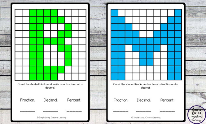 These Fraction and Decimal Cards are a fun way to learn and practice fractions and decimals.