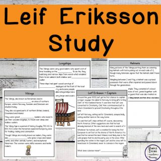 This Leif Eriksson Study is a great way to introduce children to Leif Eriksson, the Viking who is credited with discovering North America.