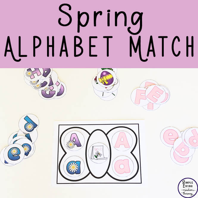 In this gorgeous Spring Alphabet Match  activity, children will be practicing learning their letters of the alphabet and beginning sounds by placing the correct cards on a butterfly.