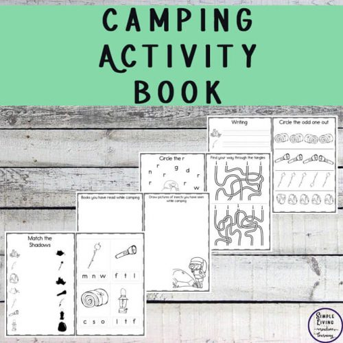 This Camping Activity Book will help make it more enjoyable for young children and keep them entertained if the weather is not especially kind.