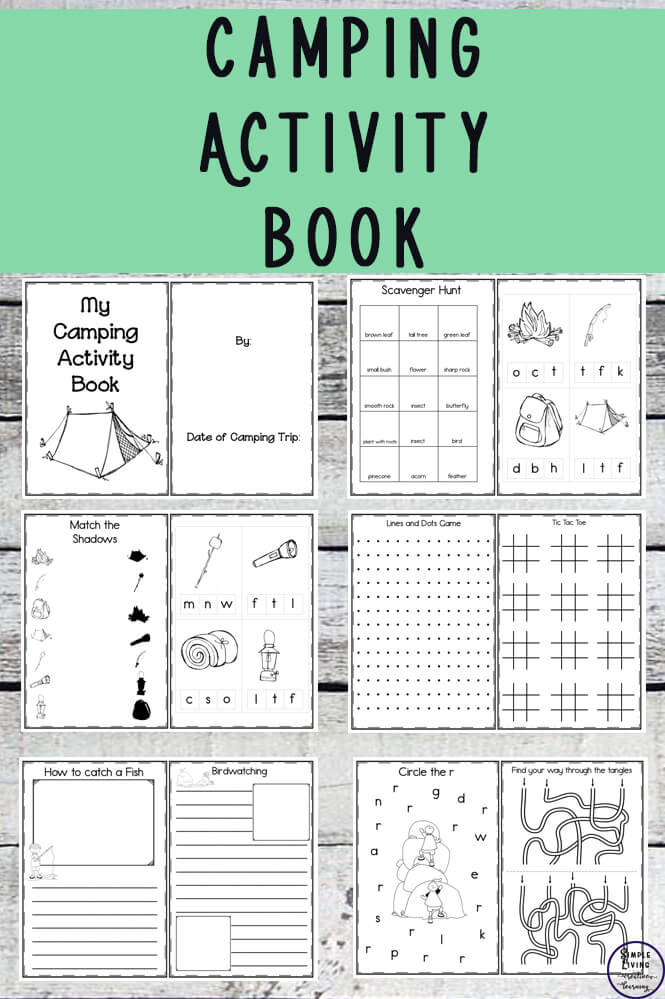 Camping Activity Book - Simple Living. Creative Learning