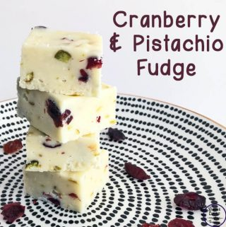 This cranberry and pistachio fudge is just amazing! It is one of my personal favourite fudges of all time, and so very easy to make as well.