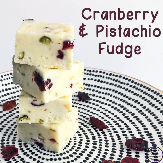 Cranberry and pistachio fudge