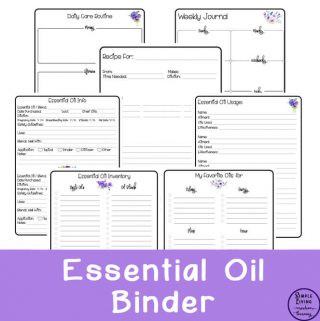 This gorgeous, printable Essential Oil Binder will keep all your essential oil notes from books, articles and classes, organised beautifully.