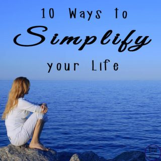 It's time to stop going through the motions & start easing your way into a more peaceful & stress free life, with these 10 ways to simplify your life.