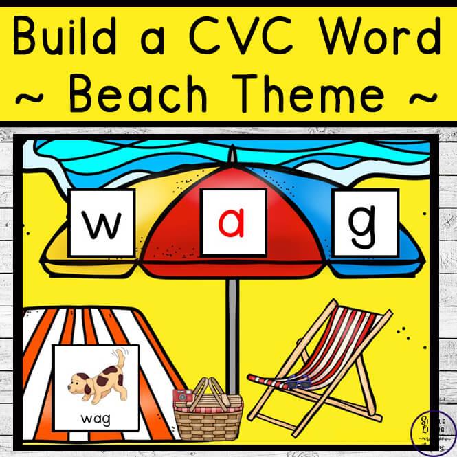Build a CVC Word {Beach Themed}