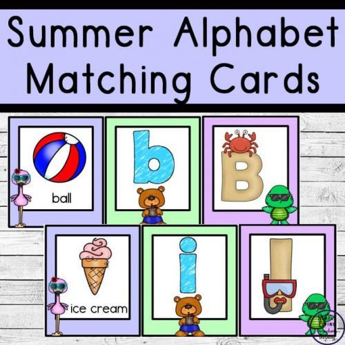 These fun printable summer alphabet matching cards are going to help your children learn their uppercase and lowercase letters in not time.