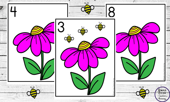 Focusing on the numbers 1 - 20, these Bee Counting Mats are a fun, hands-on math activity that preschoolers and toddlers will love.