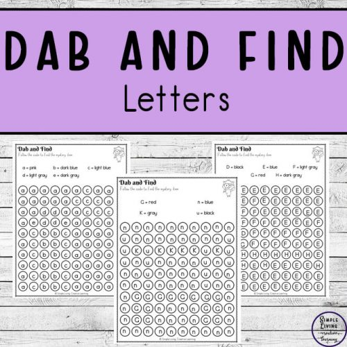 As children complete these Dab and Find Mystery Items worksheets, they will be working on their fine motor skills, letter sense as well as working on learning their colours.