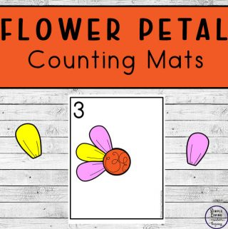 Focusing on the numbers 1 - 20, these Flower Petal Counting Mats are a fun, hands-on math activity that preschoolers and toddlers will love.