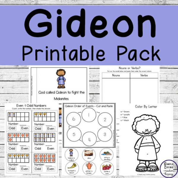 This Gideon printable pack is a great way to teach young children, this amazing story of how God, Gideon and 300 men beat the Midianites.