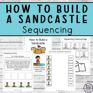 This fun How to Build a Sandcastle Sequencing Printables not only help young children learn how to build a sandcastle, but they are also able to work on their sequencing skills too.