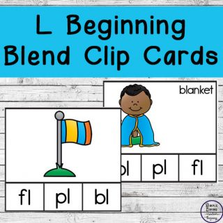 These L Beginning Blend Count and Clip Cards are not only cute, but they are a great way to learn the Bl,Cl, FL, GL, PL and Sl beginning blends.