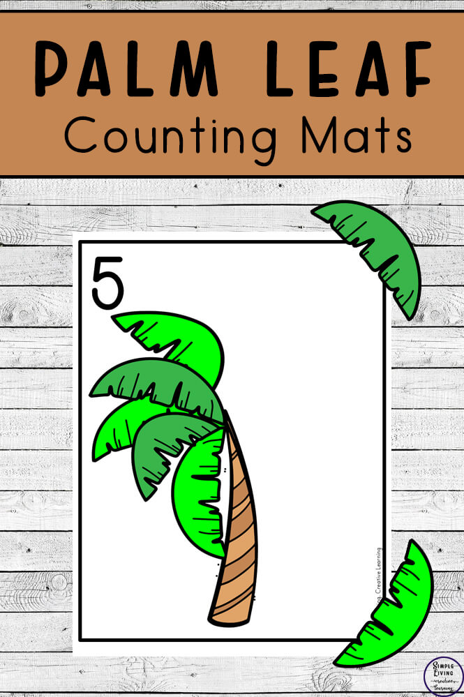 Focusing on the numbers 1 - 20, these Palm Tree Leaf Counting Mats are a fun, hands-on math activity that preschoolers and toddlers will love.