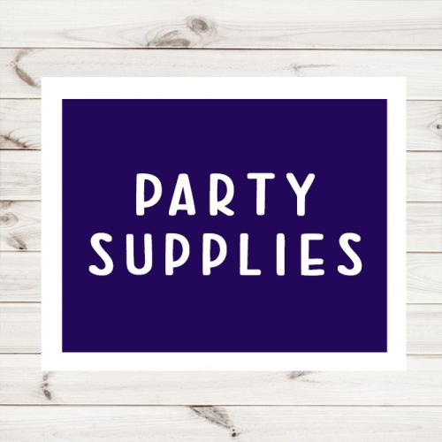 Party Supplies