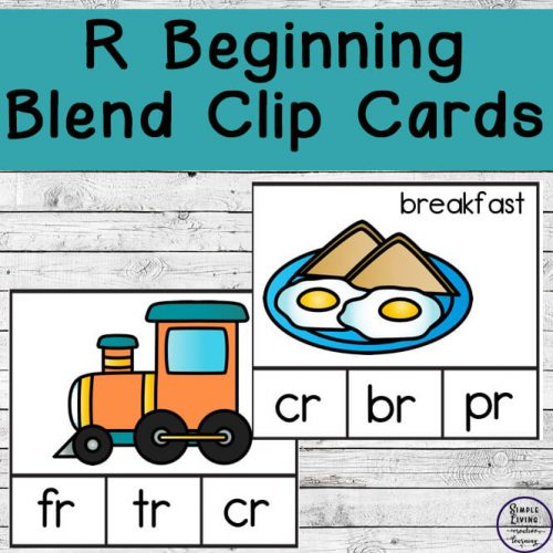 These R Beginning Blend Count and Clip Cards are not only cute, but they are a great way to learn the Br, Cr, Dr, Fr, Gr, Pr and Tr beginning blends.