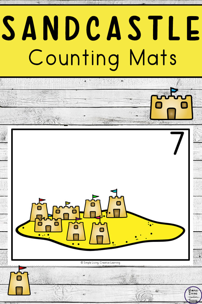 Focusing on the numbers 1 - 20, these Sandcastle Counting Mats are a fun, hands-on math activity that preschoolers and toddlers will love.