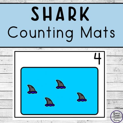 Focusing on the numbers 1 - 20, these Shark Counting Mats are a fun, hands-on math activity that preschoolers and toddlers will love.