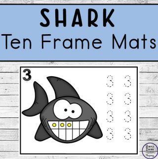These cute SharkCounting Mats are a fun activity for kids to learn and practice counting to ten this Summer or as part of a shark unit.