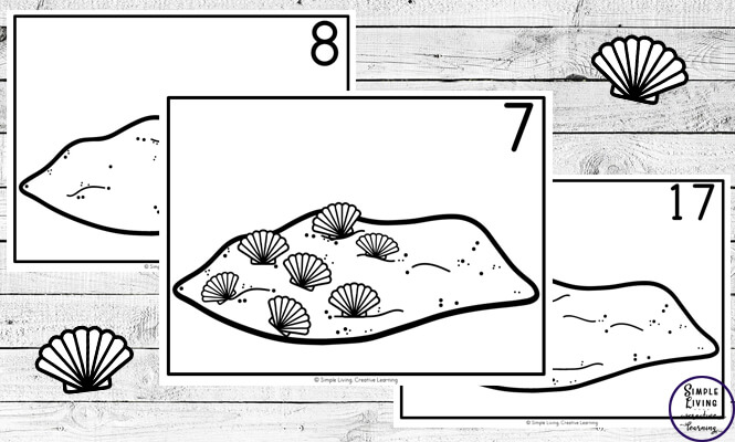 Focusing on the numbers 1 - 20, these Shell Counting Mats are a fun, hands-on math activity that preschoolers and toddlers will love.