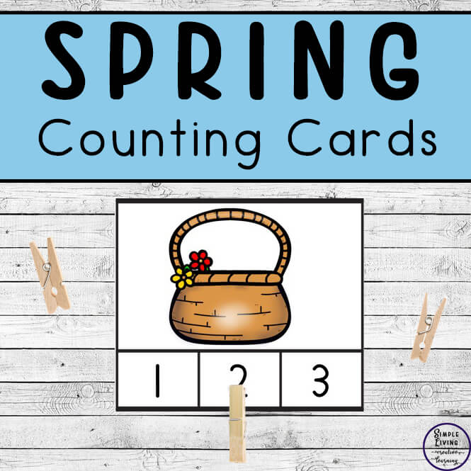 Preschoolers and toddlers will love these Spring Counting Cards! This hands-on activity is fun and can be used multiple times. This activity focuses on counting the numbers 1 – 10.