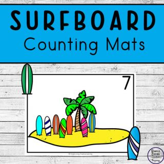 Focusing on the numbers 1 - 20, these Surfboard Counting Mats are a fun, hands-on math activity that preschoolers and toddlers will love.