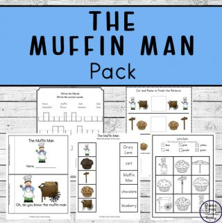 ThisMuffin Man printable pack is a great nursery rhyme for young children to learn, especially great for practicing their counting.