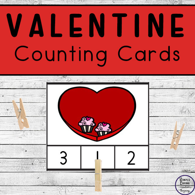 Preschoolers and toddlers will love these Valentine Counting Cards! This hands-on activity is fun and can be used multiple times. This activity focuses on counting the numbers 1 – 10.