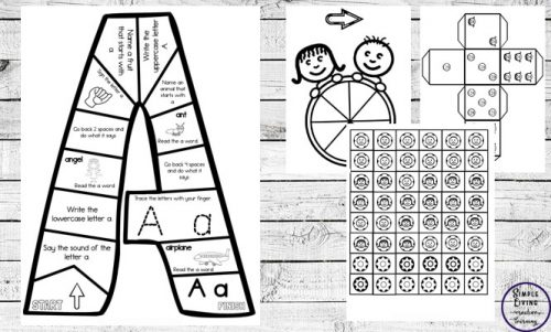Kids will love learning the letters of the alphabet, working on their phonics or reviewing their letters with these fun and exciting Alphabet Game Boards.