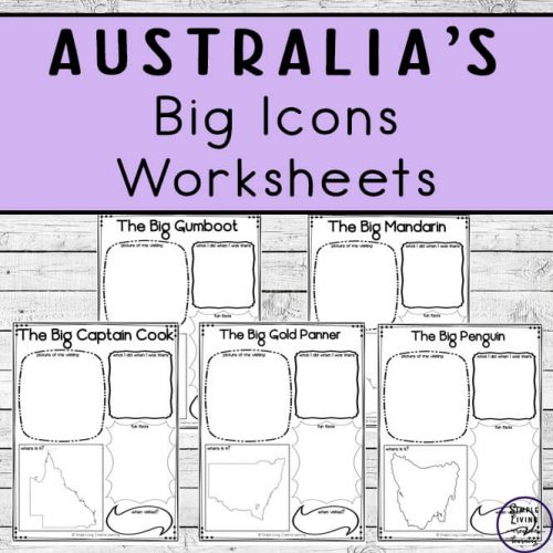 Learn about 59 of Australia's Big Icons with these awesome worksheets which can be completed when visiting or researching each of the icons.