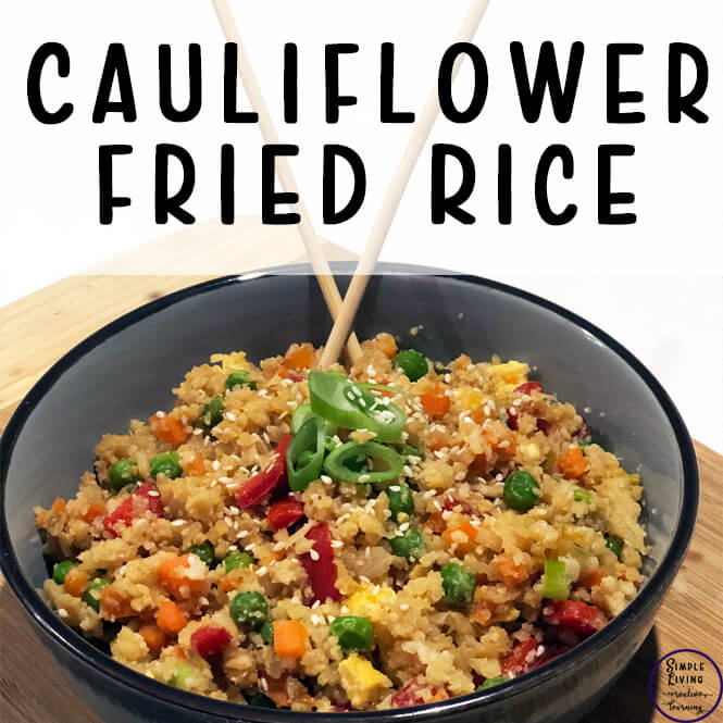 This Cauliflower Fried Rice is a low-carb version of a favourite dish in our house which is easy to make and tastes delicious.